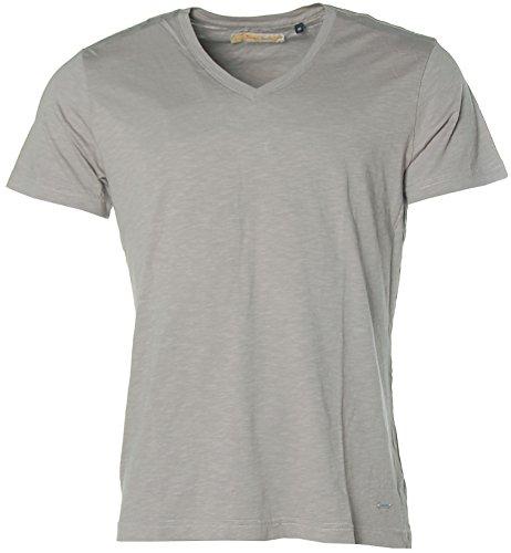 Signum Herren Kurzarm Shirt T-Shirt V-Ausschnitt Frost Grey