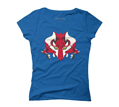 Mystic Tiger Women's 2X-Large Royal Blue Graphic T-Shirt - Design By Humans