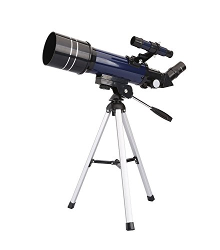 GEERTOP Télescope de Bureau Astronomique Réfracteur Ultra Clair de Qualité Supérieure avec Trépied et Détecteur, 400X70mm, Pour les Astronomes Débutants et les Adolescents