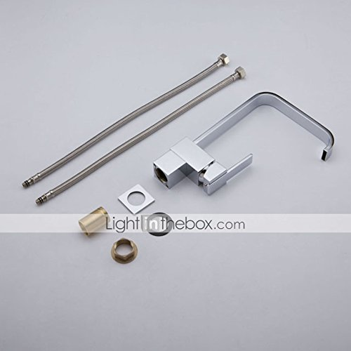 AI LI WEI Bathroom Furniture - Contemporary Brass Kitchen Faucet (Chrome Finish)