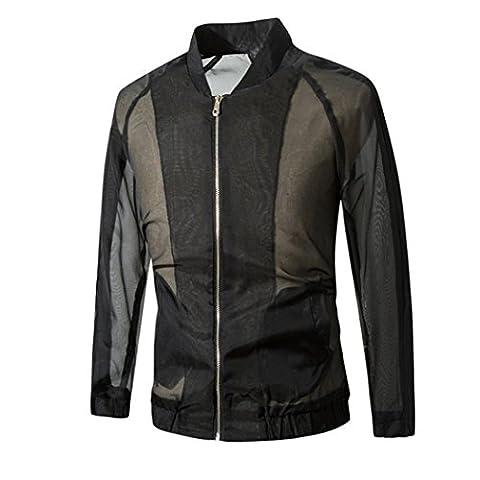 Herrenjacke VENMO Neue Männer nehmen Breathable Sweatshirt Mantel Jacke Outwear (XXL, Black) (Anzeige Mat)