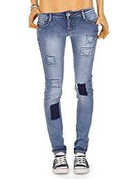 Bestyledberlin Damen Jeans Hosen, Hüftjeans j79en