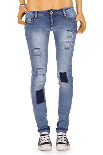 bestyledberlin - Jeans - Slim - Femme Bleu - Bleu