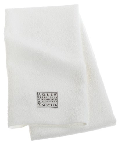 Aquis Lisse Hair Towel, White
