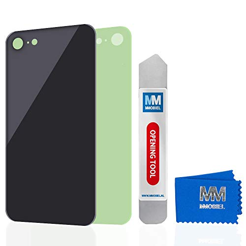 MMOBIEL Rückklappe Back Cover Batterie Gehäuse kompatibel mit iPhone 8 (Schwarz) 4.7 inch Ersatzteil Back Cover Gehäuse