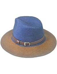 Sombrero Para El Sol Dama Moda De Retro Ocasional Verano Sombrero De Vaquero  Moda De Ala Ancha Sombrero De Paja De Playa Con… 9864d4b24fc