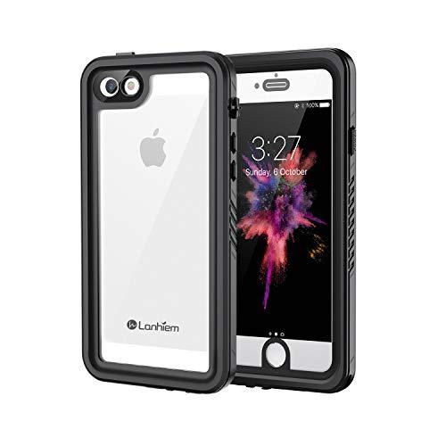 Lanhiem Coque iPhone Se / 5S / 5 Étanche, Full Body Scellé avec Protection écran Intégré [IP68 Imperméable] [Antichoc] Antipoussière Anti-Neige Waterproof Etui pour iPhone Se / 5S / 5, Noir