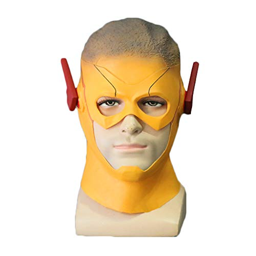 GanSouy The Flash Season 3 Mask, Kid Flash Mask Vollmaske für Erwachsene Cosplay-Kopfbedeckung, Halloween-Maskerade-Showbar Cosplaly-Mask-Requisiten,Kid Flash-56cm~62cm