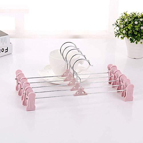 Second Sunny 28cm Hosenbügel rutschfeste Kunststoffhosenbügel mit Clip Winddichter Bügel für Socken, Unterwäsche, Schuheinlagen, Babykleidung, Handschuhe, 10St,Pink (Handschuh-clips Erwachsene Für)