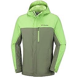 Columbia Pouring Adventure II Jacket Chaqueta Impermeable, Aislamiento térmico sintético Hi-Loft, Hombre, Verde (Mosstone/Spring), L