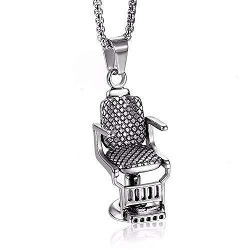 Y-modo Edelstahl Barber Chair Anhänger Punk Titan Stahl Herren Swivel Chair Halskette -