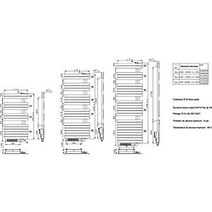 Sèche-serviettes électrique CONCERTO asymétrique 1000W blanc + booster 1000W Réf SUG055A25010002