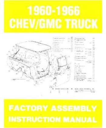 Motors General Bücher (1963 1964 1965 1966 Chevy Pickup Truck Montage Manuelle Buch Illustrationen)