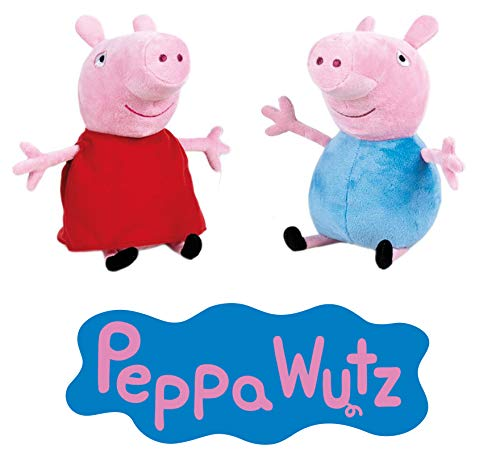 Plüschtiere Peppa & Schorsch, 22 cm Peppa Pig Plüschtier, Stofftier ()