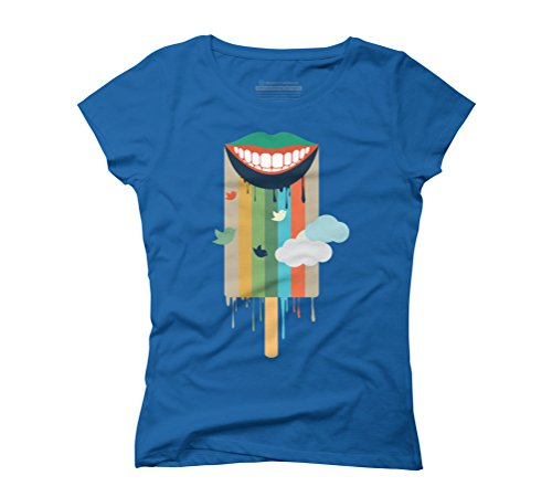 summer ice cream Women's Graphic T-Shirt - Design By Humans Royal Blue