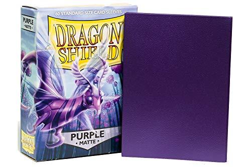Arcane Tinmen ApS ART11209 Sleeves Purple Nein Dragon Shield Matte: Lila (60 Stück), violett, Einheitsgröße (Dragon Shield Sleeves Green)