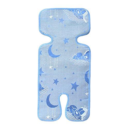 hou zhi liang Asiento de Verano Transpirable y Universal/Colchoneta para Cochecitos, Sillas de Paseo, Sillitas de Coche y maxicosi, Reduce la sudoración y Mantiene al niño Fresco (Azul)