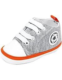 Vovotrade 0-18 Meses Primer paso Zapatos Bebé recién nacido Fútbol Imprimir Zapatilla Antideslizante Suela blanda Zapato de lona del niño