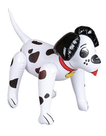 Adorable Inflatable Dalmation - 24 Inch / Fire House Dog / Party Decor / Favor / Decoration / Stocking Stuffer by RIN