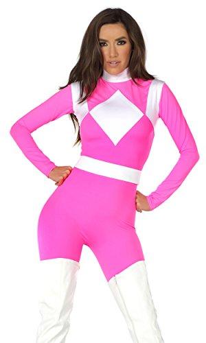 Women's Supreme Pink Ranger Medium/Large (White Ranger Kostüm Für Erwachsene)