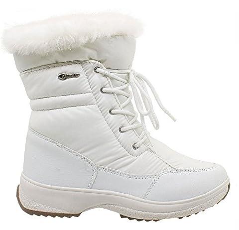 Kefas - Gaiya 3222 - Bottes de neige - Femme Blanc 39
