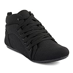 TASHI Women's Black Canvas Sneakers_39