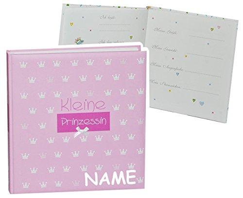 Unbekannt Fotoalbum Baby erste Fotos - kleine Prinzessin - incl. Namen - Gebunden zum Einkleben blanko - groß für bis zu 312 Bilder - Fotobuch / Photoalbum / Babyalbum ..