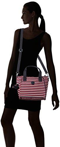 KiplingAmiel - Borsa con Maniglia donna Multicolore (Sugar Stripes)