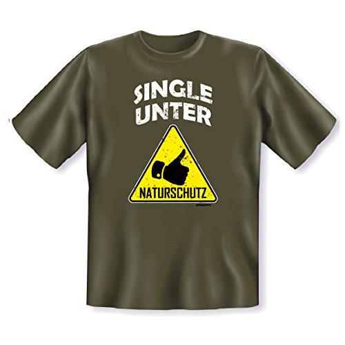 T-Shirt ::: Single unter Naturschutz ::: Kaki Kaki