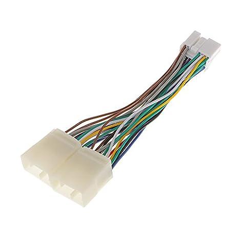 MagiDeal Y Strom Adapterkabel mit Verriegelungs Clip Y Splitter Stromkabel für Honda Aux CD Changer Navigation XM Ipod Adapter