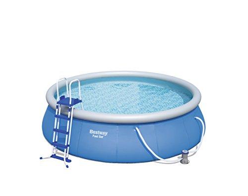 Bestway Fast Set Pool Set mit Filterpumpe + Zubehör, 457 x 122cm