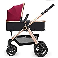 Heay Travel System Infant Carriage Portable Baby Stroller 3 In 1,Lightweight Umbrella Stroller Baby Travel System Pram For All Terrain City Compact Pushchair With Durable Construction Foldable