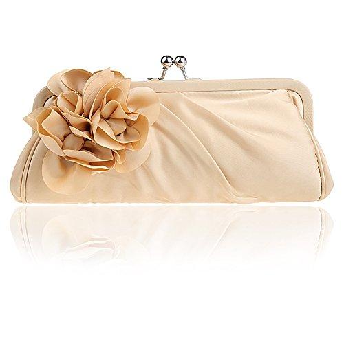 HT Fashion Evening bag, Poschette giorno donna apricot