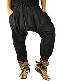 virblatt pantalones cagados mujer como ropa etnica para una moda hippie en  talla única pantalones harem 3bd8491ce64d