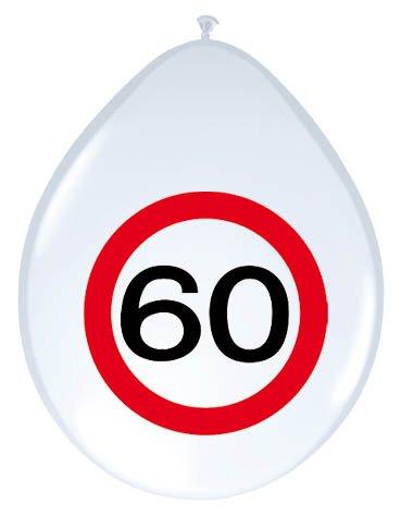 23-tlg. Partyset 60. Geburtstag Dekoset Dekobox – Verkehrschild – Girlanden, Luftballons - 4