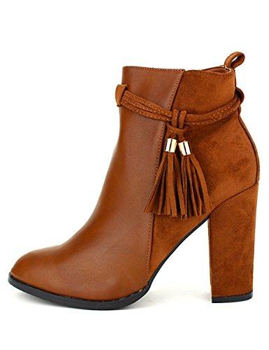 Cendriyon Lows Boots BI Matière Camel CINKS Chaussures Femme