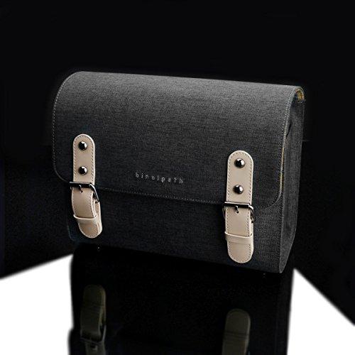 BINALPATH (by Gariz) wasserabweisende Canvas Kamera-Tasche / Systemkamera-Tasche / Fototasche / Zoom Case in der Größe M / Farbe: Kohle Grau (CB-NCMGR) mit vielen funktionellen Details ...(powered by SIOCORE)