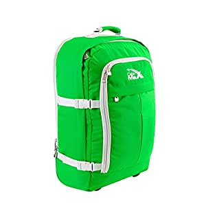 Cabin Max Lyon Flight Approved Bag Wheeled Hand Luggage - Carry on Trolley Backpack 44L 55x40x20 - Green