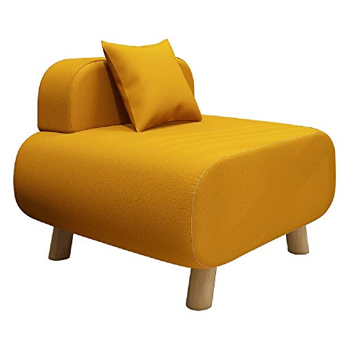 ZXQZ Hocker Cloth Art Freizeitsofa Hocker 58x54x32cm Lazy Chair (Farbe : Orange)