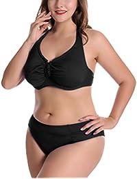 f5a4b01ca163 Feoya - 2PCS Donna Costume da Bagno Swimsuit Beachwear Costume Intero da  Spiaggia Mare Push Up