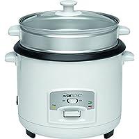 Clatronic RK 3566 Arrocera, Capacidad 3 litros para 2,5 kg arroz hervido, 700 W, 2000 W, Blanco