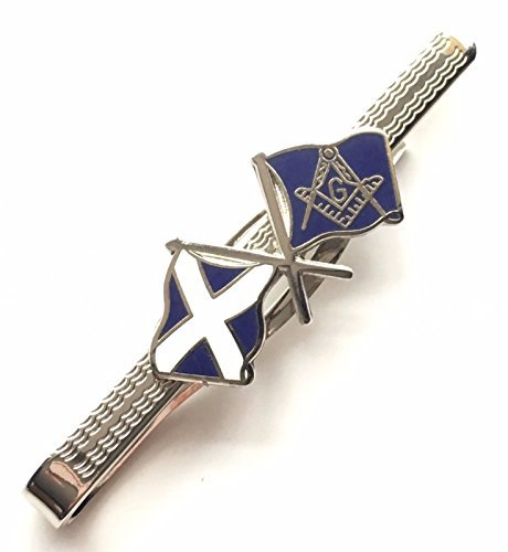 Geschenkbox Freimaurer Wappen & Scottish Saltire Flagge Emaille CRESTED Krawatte Slide (N344) (Scottish Flagge Saltire)
