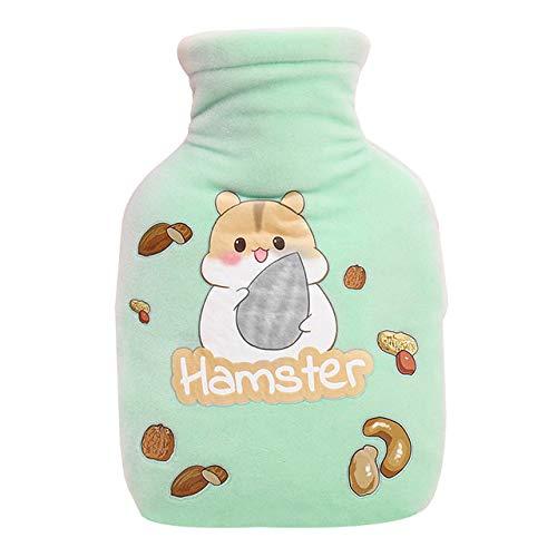 YUHUALI 350 ML Plüsch Wärmflasche Warme Niedlichen Cartoon Tier Handwärmer Mädchen Student Taschenwärmer Gummi Wärmebeutel Hause -