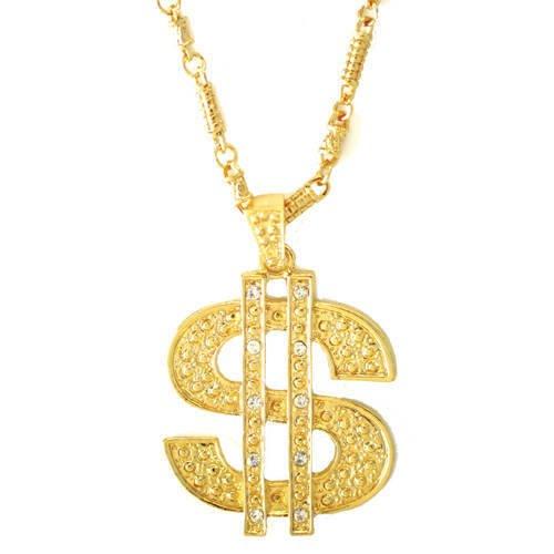 (Kette Dollar Symbol, gold)