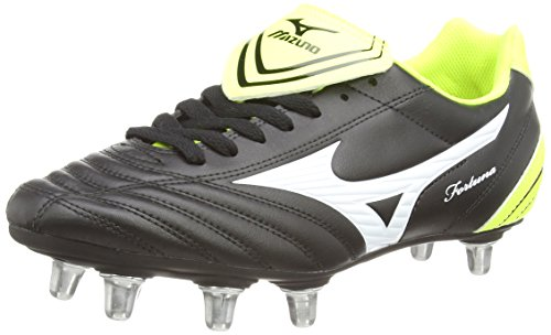 Mizuno - Fortuna Rugby Sp, Scarpe Rugby da uomo, nero (black/white/yellow), 42