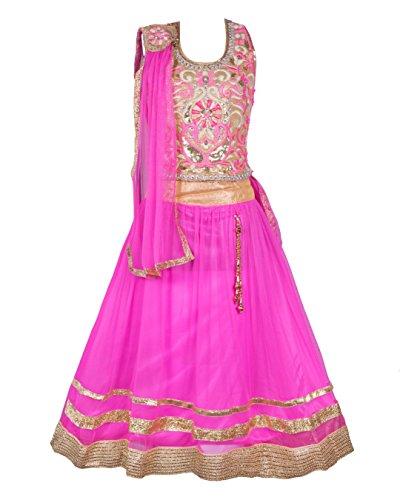 My Lil Princess Baby Girls Birthday Party wear Frock Dress_Pink Lehenga Choli_Net...