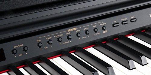Classic Cantabile DP-50 SM E-Piano (Digitalpiano mit Hammermechanik, 88 Tasten, 2 Anschlüsse für Kopfhörer, USB, LED, 3 Pedale, Piano für Anfänger) schwarz matt - 4