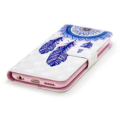 OYIME Custodia in Pelle Per iphone 6 Plus/ 6S Plus Cover Libro Portafoglio con Disegno 3D Glitter Lusso Elegante…