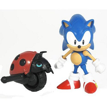 Sonic 20th Anniversary - 8cm Sonic mit Moto Bug [UK Import] (Knuckles Spielzeug Sonic)
