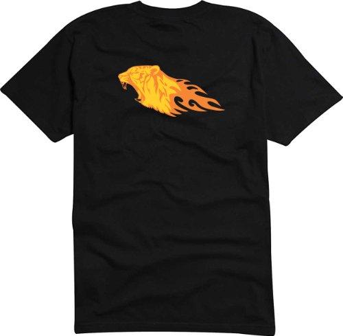 T-Shirt Herren Tiger Carving Schwarz